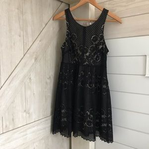 Free People Lace Open Back Sleeveless Dress